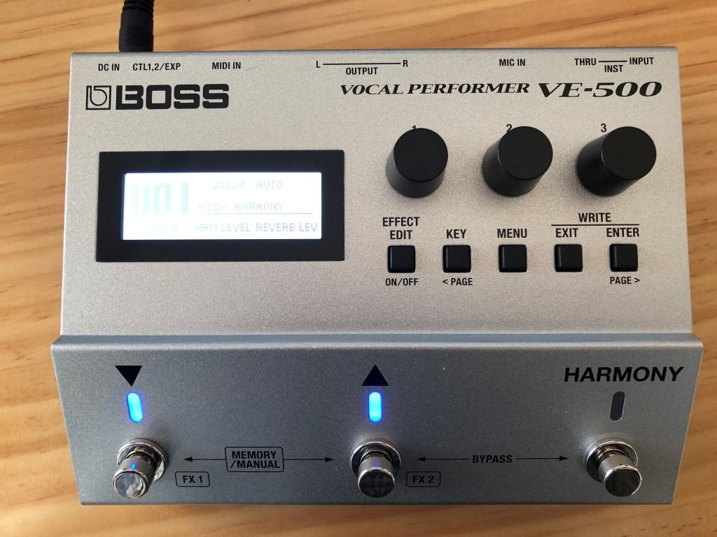 Processeur vocal Boss VE-500